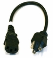 1 ft Standard PC Power Cable