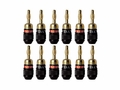 6-Pairs Deadbolt Banana Plugs
