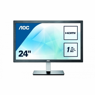 "AOC International E2476VWM6 24"" TFT LCD LED 16.9 Black"