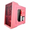 Apevia X-EnerQ-PK-500 Pink ATX Mid Tower Case with Window & 500W PSU