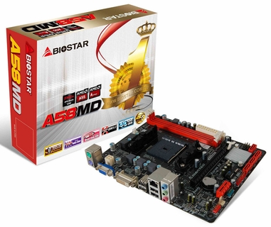 Biostar A58MD Socket FM2/FM2+ AMD A55 Chipset mATX Motherboard