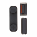 Black Power Volume Mute Button Replacement Set for iPhone 5