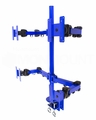 MonMount Blue Quad LCD Monitor Stand Desk Mount Adjustable Arm