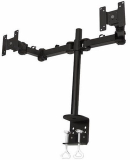 MonMount Dual LCD Monitor Desk Clamp & Mount - Complete Kit