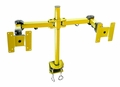 "Dual Yellow LCD Monitor Stand Desk Clamp 24"" LCD Monitor Mount"
