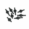 GeLid RB-GR02-B Antivibration Fan Mounts 8 PC - Black