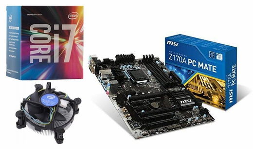Intel i7-6700 Quad-Core Processor MSI Z170A PC Mate ATX ...