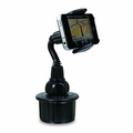 Macally MCUP Adjustable Automobile Cup Holder for iPhone, iPod, Smartphones, MP3 and GPS - Black