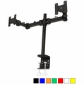 MonMount Dual LCD Monitor Desk Clamp & Mount - Choose Color
