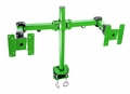 "Monmount Dual Green LCD Monitor Stand desk clamp for 24"" LCD monitors"