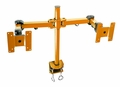 "Monmount Orange Desk Clamp Dual 24"" LCD Articulating Monitor Mount"