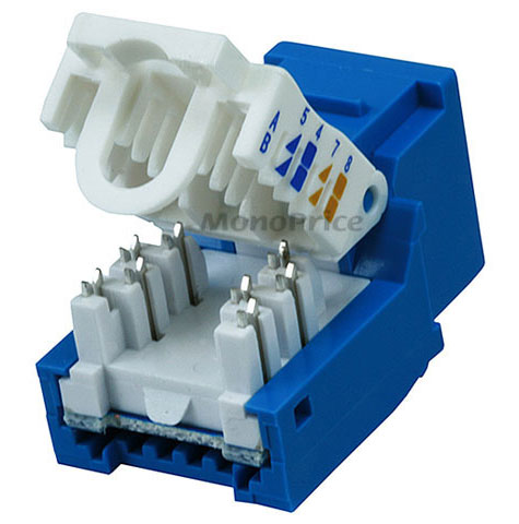 Jf3438 Monoprice 313 Tool Less Blue Cat5 Keystone Jack besides Cat 3 Phone Wire Diagram together with Ether as well Cat5e Rj45 Keystone Jack Wiring Diagram as well Cat5e Punch Down Slim Keystone Jack Blue. on cat 5e wiring diagram