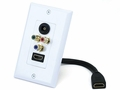 MonoPrice 5985 HDMI Component Toslink Coupler Wall Plate Rev. 2
