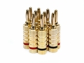 Monoprice 9436 5 PAIRS Of High-Quality Gold Plated Speaker Banana Plugs, Closed Screw Type