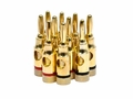 Monoprice 9437 5 PAIRS OF High-Quality Gold Plated Speaker Banana Plugs, Open Screw Type