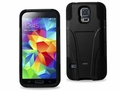 Reiko Black Silicon Case and Protector Cover for Samsung Galaxy S5
