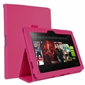 "rooCASE for Amazon Kindle Fire HD 8.9"" - Dual Station Vegan Leather Folio Case Magenta"