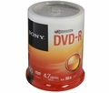 SONY 100dmr47sp 4.7GB 16X DVD-R 100 Pack Spindle