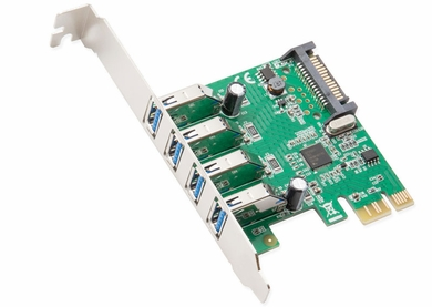 Syba SD-PEX20159 4-Port USB 3.0 Low Profile Ready PCI-Express Card