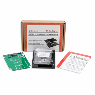 "Syba SY-ADA40092 2.5"" SATA3 to M.2 (NGFF) SSD Enclosure w/ Screw Set"