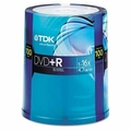 TDK 48521 4.7GB 16X DVD+R 100 Disc Spindle Pack