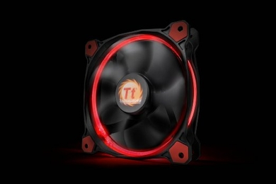 Thermaltake Riing 14 HSP 140mm Circular Red LED Case/Radiator Fan