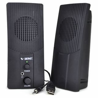 Vibe VS-520-USB USB Powered Ultra Slim 2-Piece 2 Channel Speaker Set