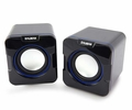 Zalman ZM-S100 2-Channel USB 3.5mm Input Mini Dual USB Speakers