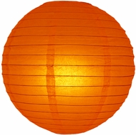 """8"""" Persimmon Orange Round Paper Lantern, Even Ribbing, Hanging (Light Not Included)"""