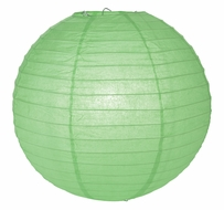 """8"""" Cool Mint Green Round Paper Lantern, Even Ribbing, Hanging (Light Not Included)"""