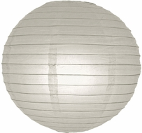 """8"""" Gray / Grey Round Paper Lantern, Even Ribbing, Hanging (Light Not Included)"""