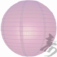 """8"""" Lavender Round Paper Lantern, Even Ribbing, Hanging (Light Not Included)"""
