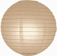 """8"""" Mocha / Light Brown Round Paper Lantern, Even Ribbing, Hanging (Light Not Included)"""