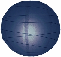 "14"" Navy Blue Round Paper Lantern, Crisscross Ribbing, Hanging (Light Not Included)"