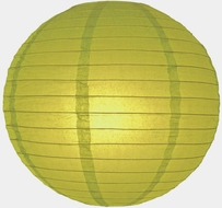 """8"""" Pear Round Paper Lantern, Even Ribbing, Hanging (Light Not Included)"""