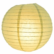 """8"""" Sea Green Round Paper Lantern, Even Ribbing, Hanging (Light Not Included)"""