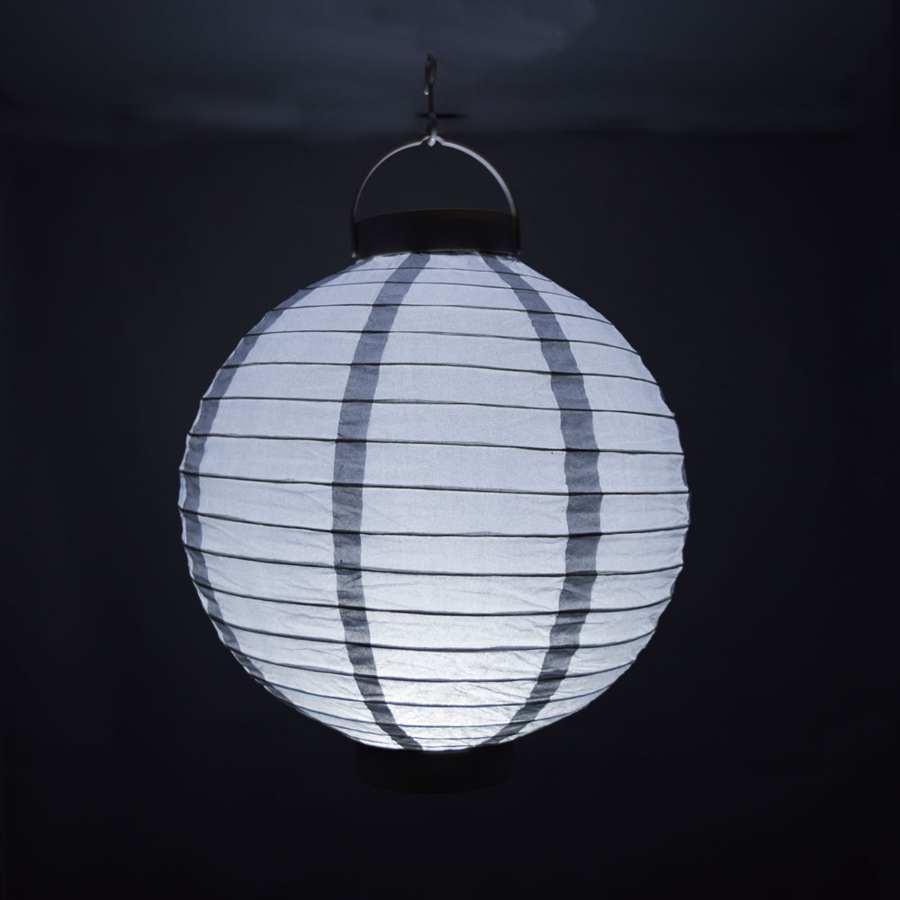 10 Silver 16 LED Round Battery Operated Paper Lantern EBay