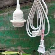 Single Socket Pendant Light Cord Kit for Lanterns (11FT, UL Listed, White)