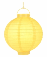 "12"" ""Budget Friendly"" Battery Operated LED Paper Lantern - Yellow"