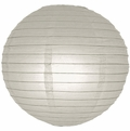 """12"""" Gray/Grey Round Paper Lantern, Even Ribbing, Hanging  (Light Not Included)"""