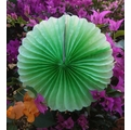 "12"" Light Lime Tissue Paper Pinwheel Decoration (6 Pack)"