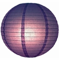 """12"""" Purple Round Paper Lantern, Even Ribbing, Hanging (Light Not Included)"""
