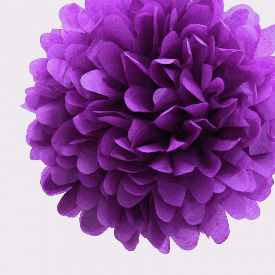 tissue paper flower balls -pick up another flower shape and slip it into a petal on one of the  i learned how to do it from you and i did some colorful paper balls myself.