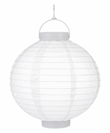 """12"""" White 16 LED Round Battery Operated Paper Lantern w/ Built-in Light-Up Switch"""