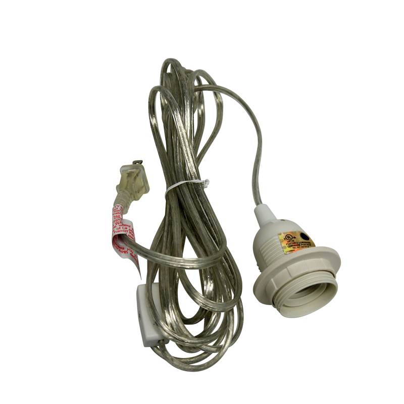 Hanging Lamp With Cord: Single Socket Clear Pendant Light Lamp Cord For Lanterns