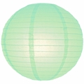 "16"" Cool Mint Round Paper Lantern, Even Ribbing, Hanging (Light Not Included)"