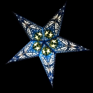 """24"""" Blue Butterfly Paper Star Lantern, Hanging (Light Not Included)"""