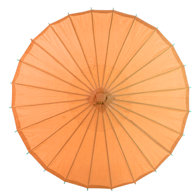 "28"" Orange Paper Parasol Umbrellas On Sale Now!"
