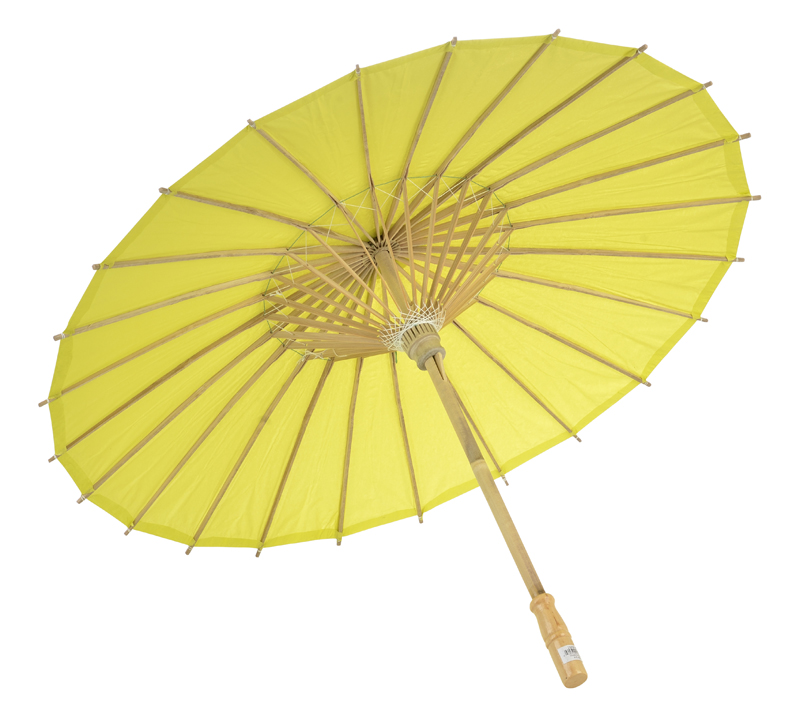 Solid Color Paper Parasol Umbrellas in Assorted Sizes