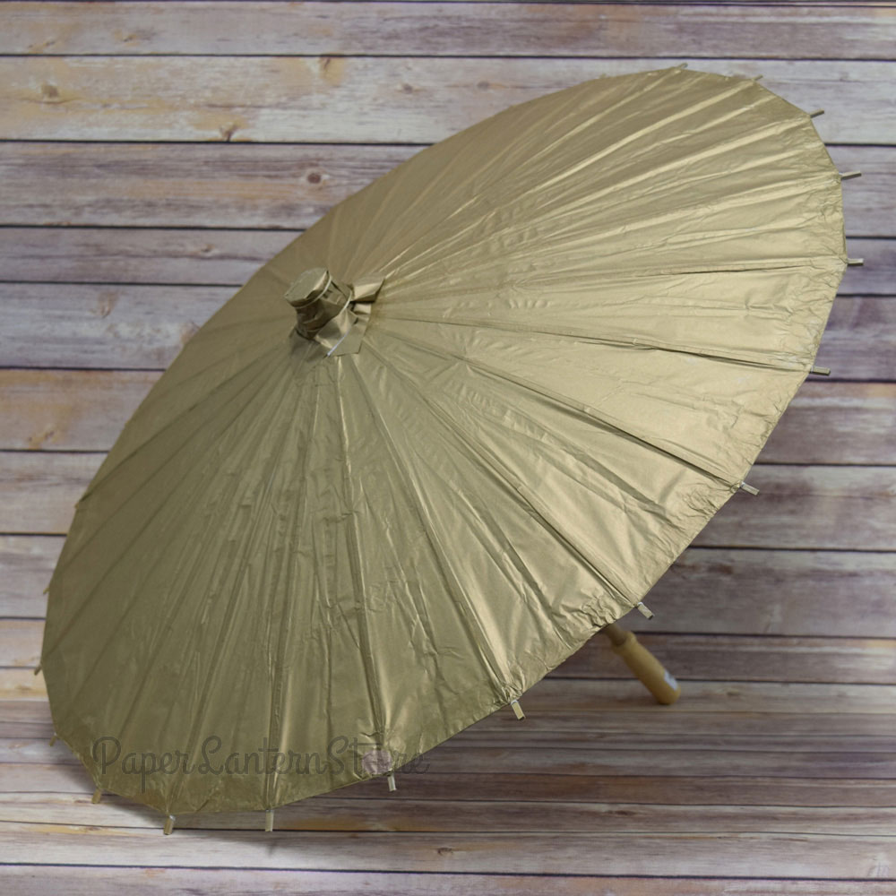 "32"" Copper Gold Paper Parasol Umbrellas On Sale Now"